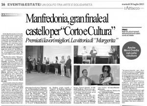"""Rassegna del quotidiano """"L'Attacco"""" del 30 luglio 2013"""